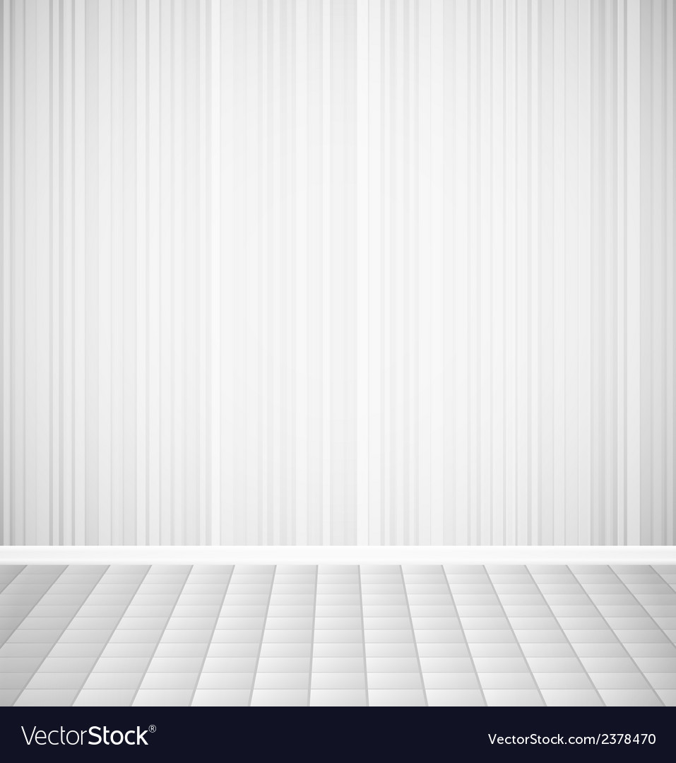 Bright empty room with striped wall and square vector | Price: 1 Credit (USD $1)