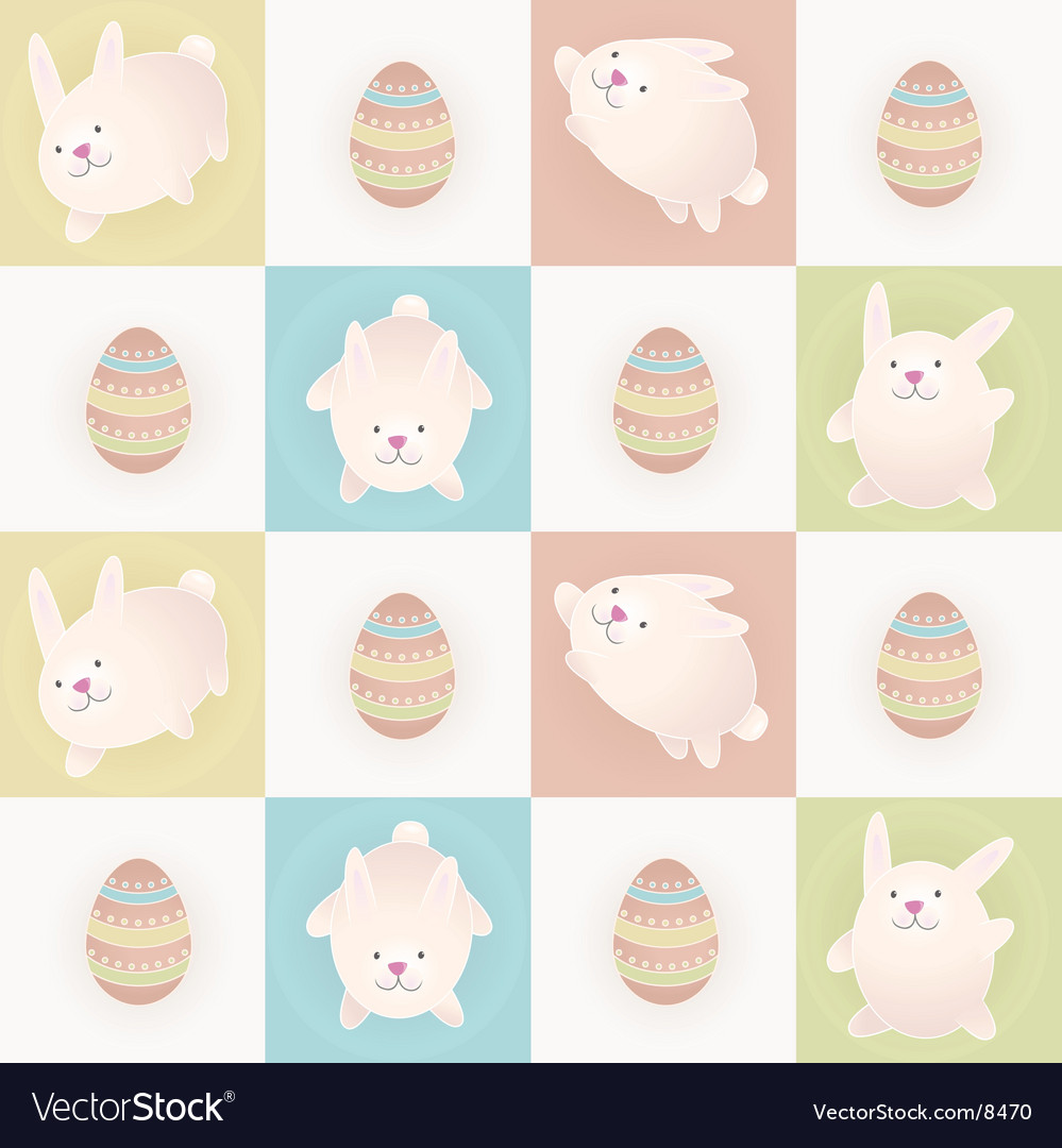 Easter bunnies vector | Price: 3 Credit (USD $3)