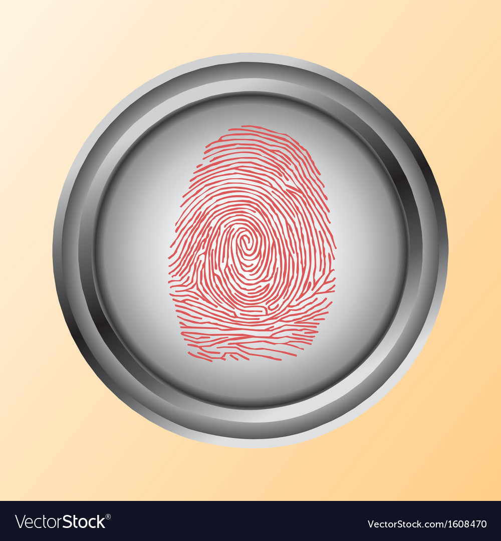 Fingerprint scan touch vector | Price: 1 Credit (USD $1)