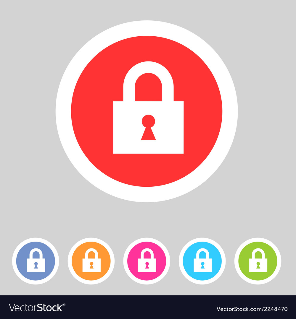 Flat game graphics icon lock vector | Price: 1 Credit (USD $1)