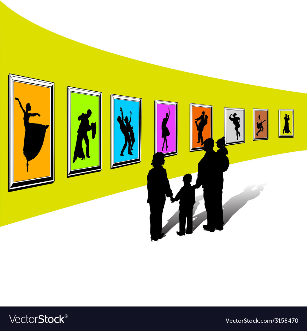 Gallery exhibition-1 vector | Price: 1 Credit (USD $1)