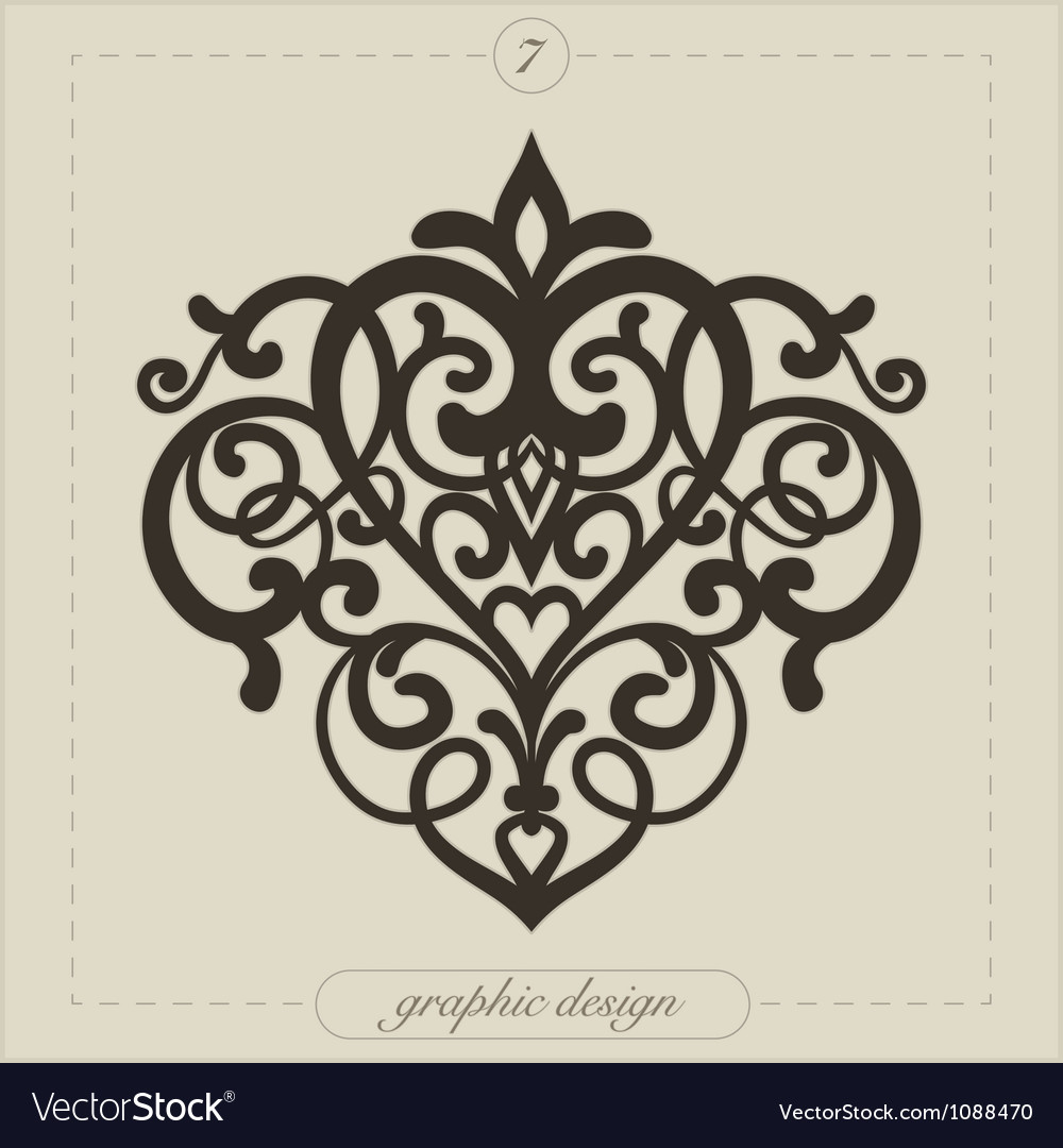 Graphic element flourish vector | Price: 1 Credit (USD $1)