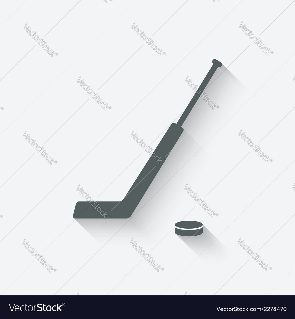 Hockey sport icon vector | Price: 1 Credit (USD $1)