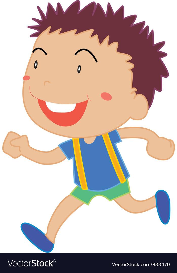 Little boy running vector | Price: 1 Credit (USD $1)