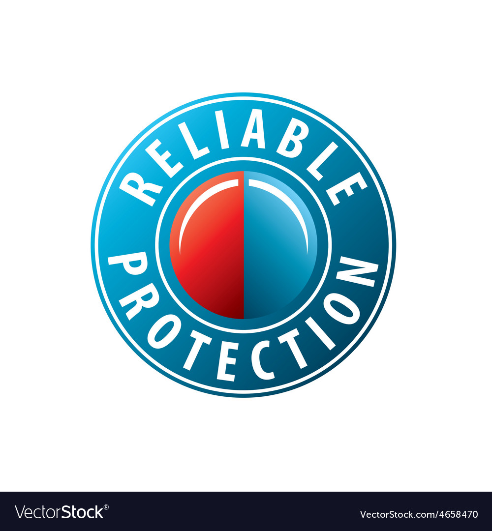 Logo button to invoke protection vector | Price: 1 Credit (USD $1)