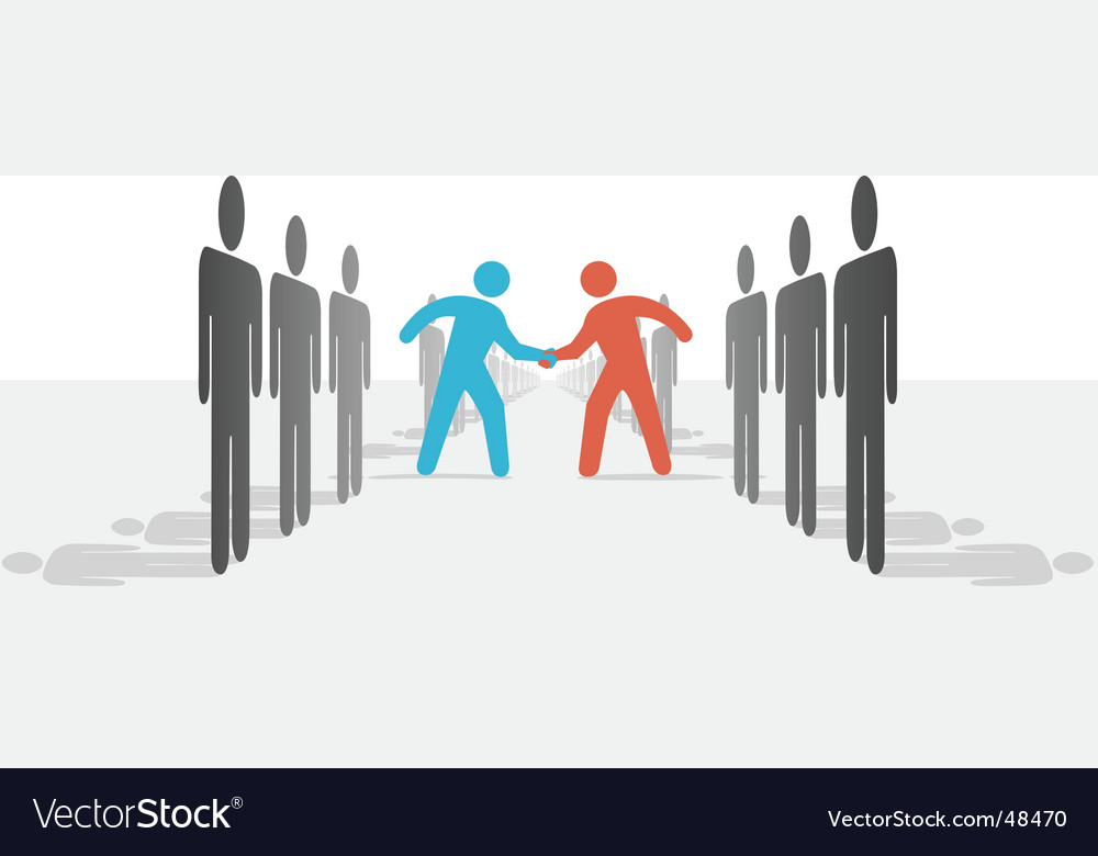 People on two sides agree vector | Price: 1 Credit (USD $1)