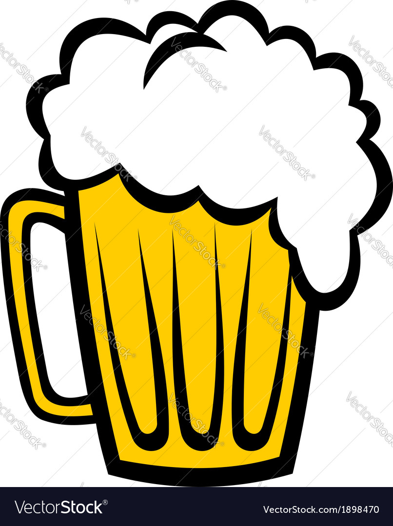 Pint of refreshing frothy beer vector | Price: 1 Credit (USD $1)