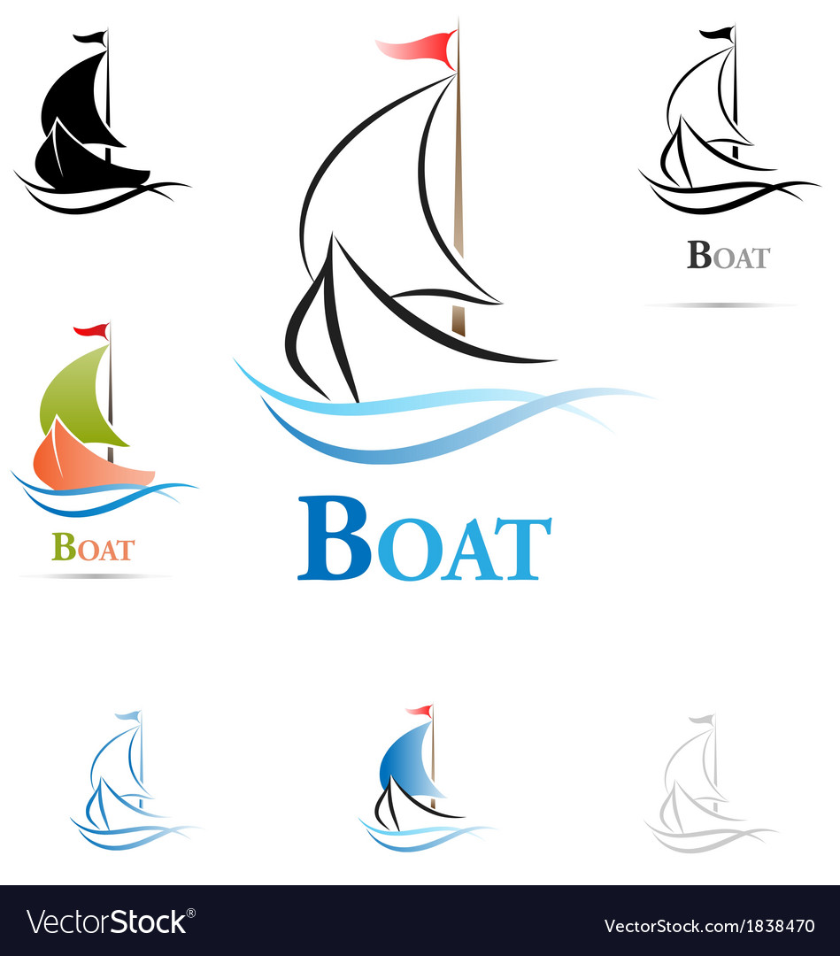 Sailing boat icon vector | Price: 1 Credit (USD $1)