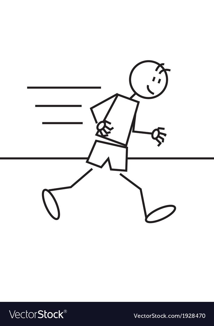 Stick figure athletics vector | Price: 1 Credit (USD $1)