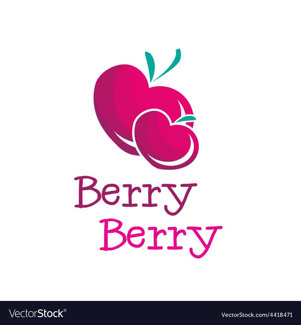 Bright b letter berry logo vector | Price: 1 Credit (USD $1)