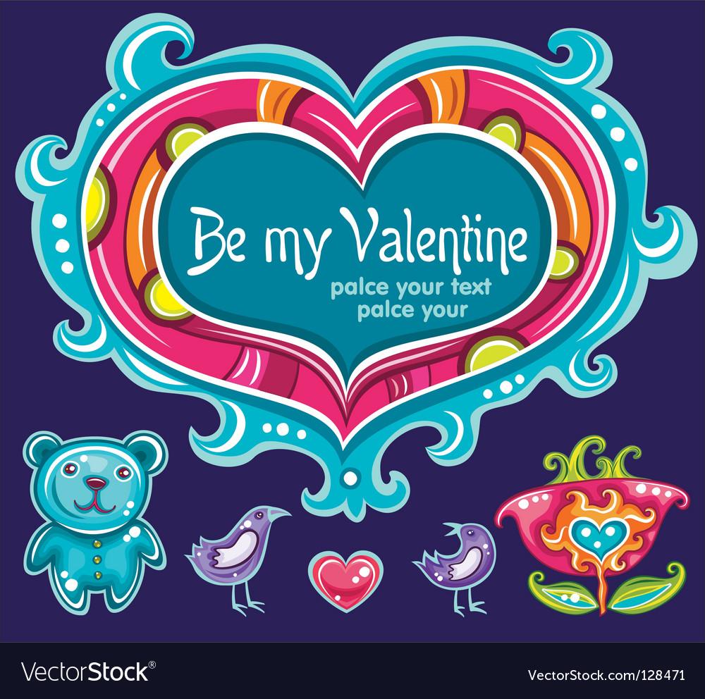 Heart set love vector | Price: 3 Credit (USD $3)