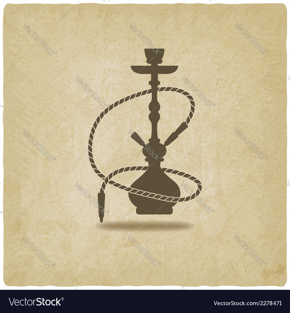 Hookah old background vector | Price: 1 Credit (USD $1)