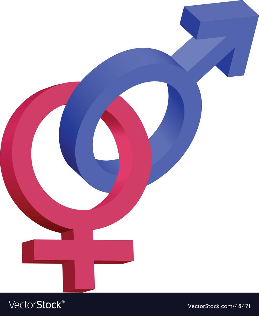 Male female 3d symbols vector | Price: 1 Credit (USD $1)