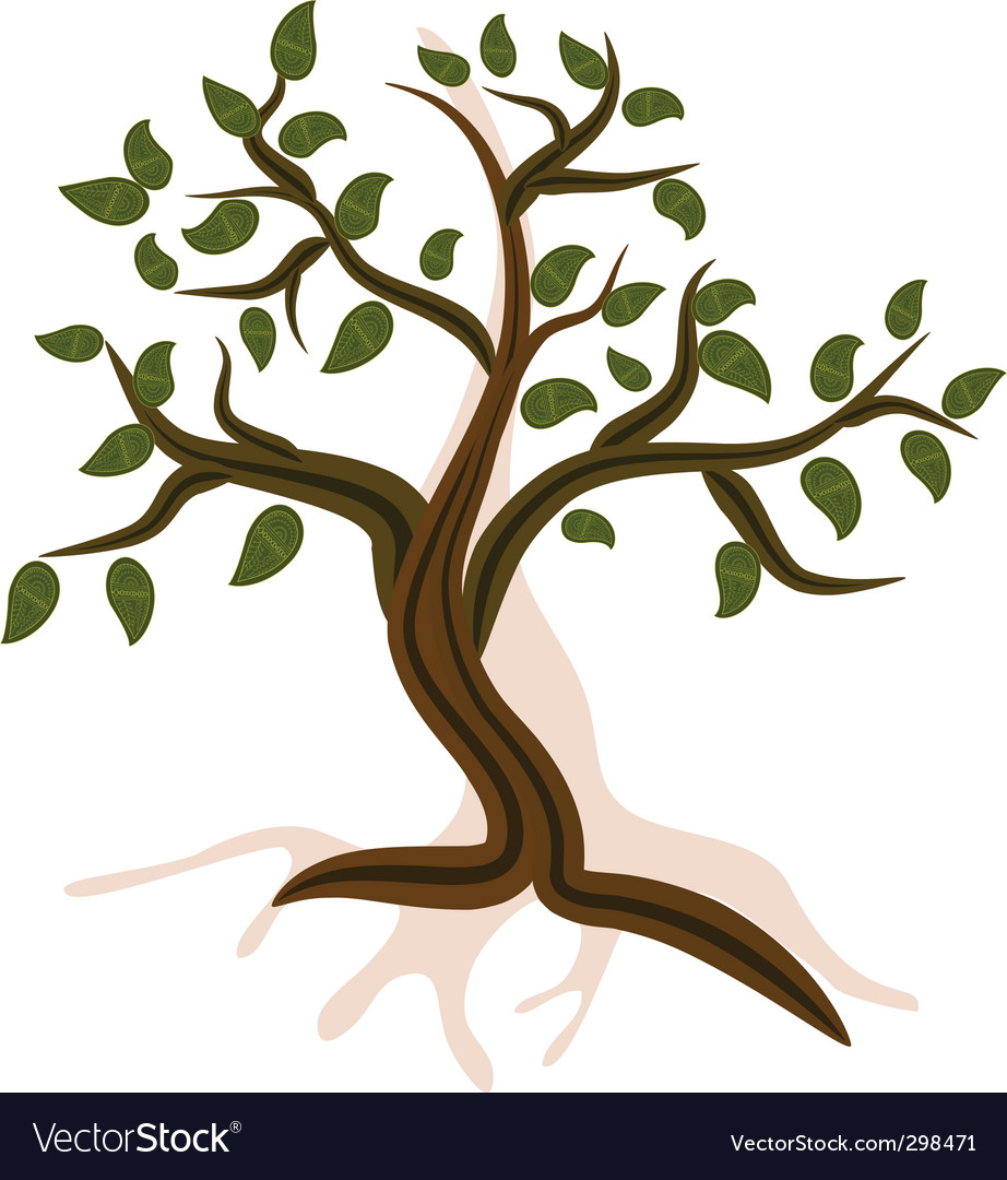 Mountain tree vector | Price: 1 Credit (USD $1)