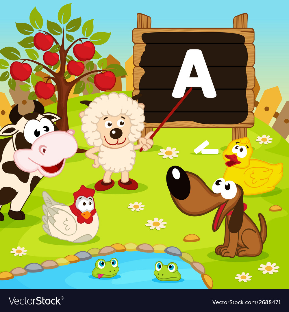 Sheep teaches animals vector | Price: 1 Credit (USD $1)