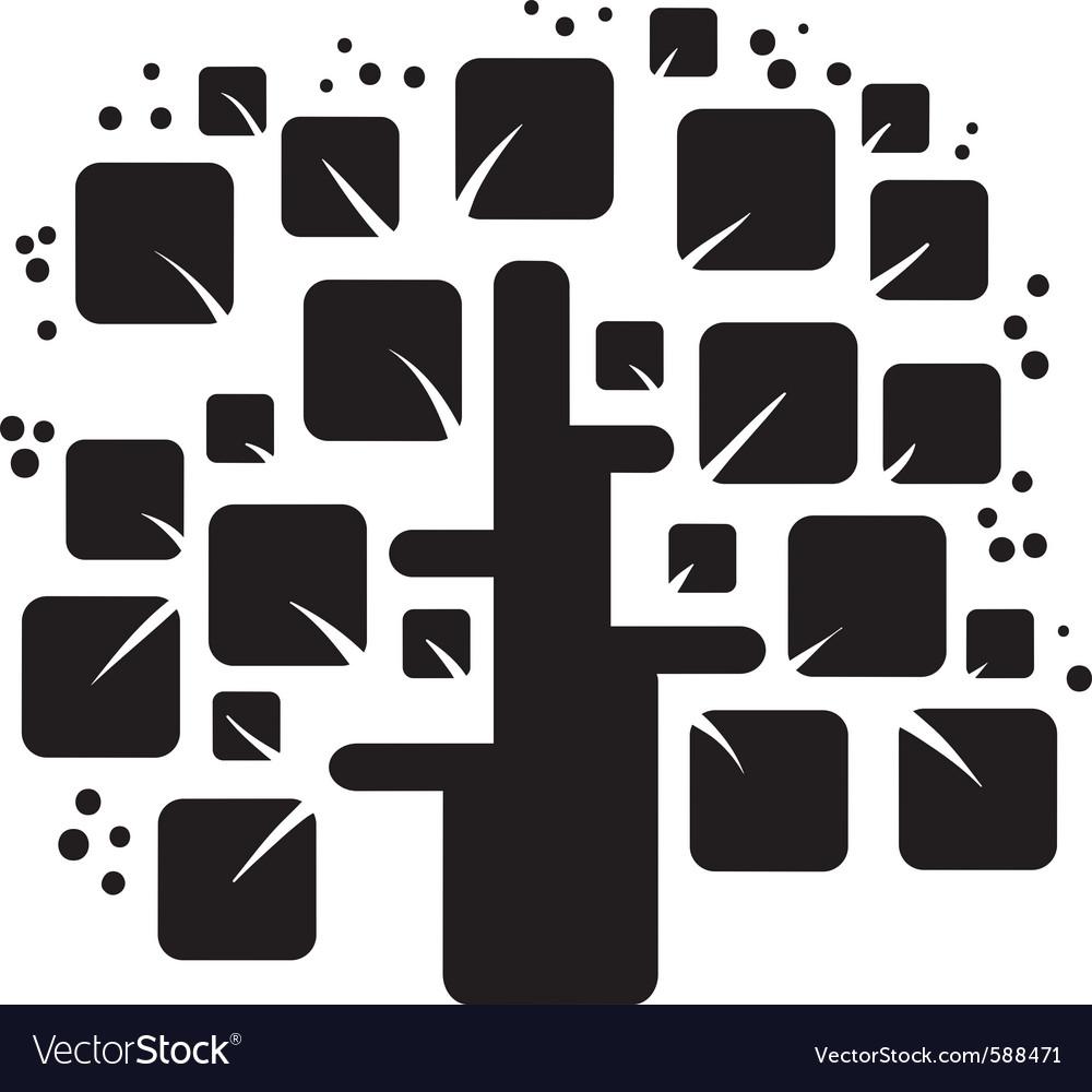 Stylized black tree vector | Price: 1 Credit (USD $1)