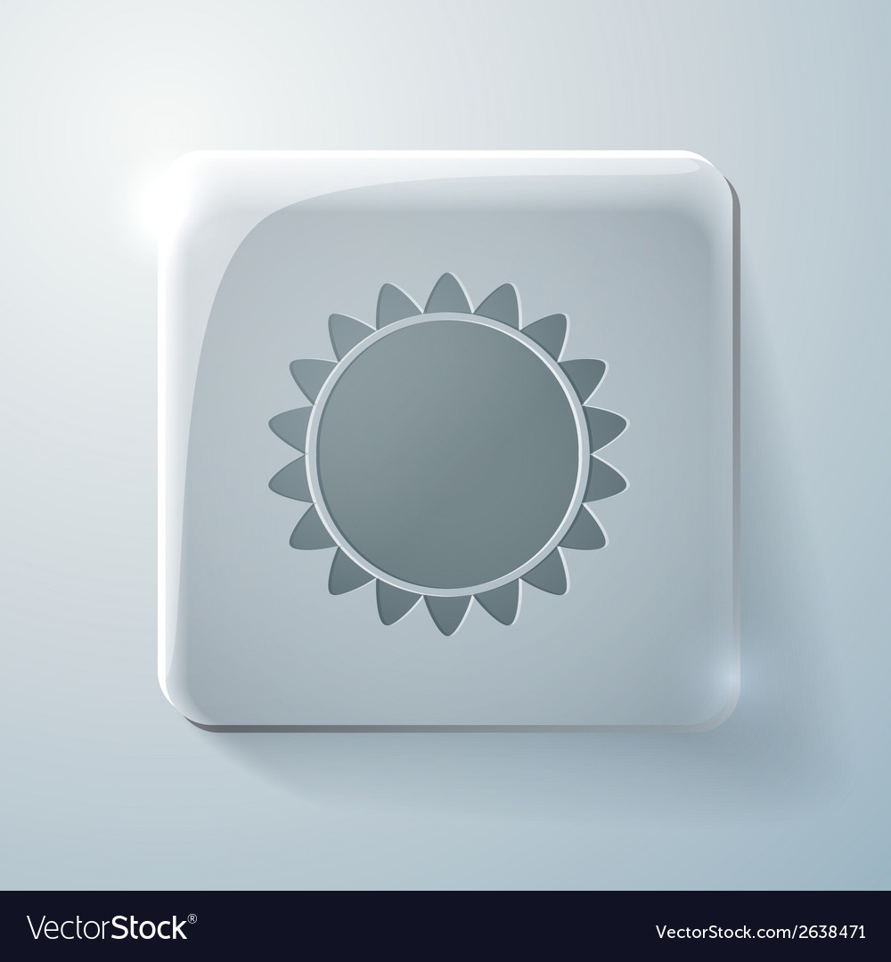 Sun glass square icon with highlights vector   Price: 1 Credit (USD $1)