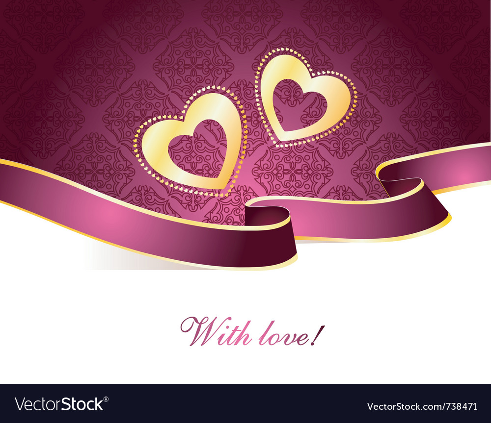 Valentine card vintage vector | Price: 1 Credit (USD $1)