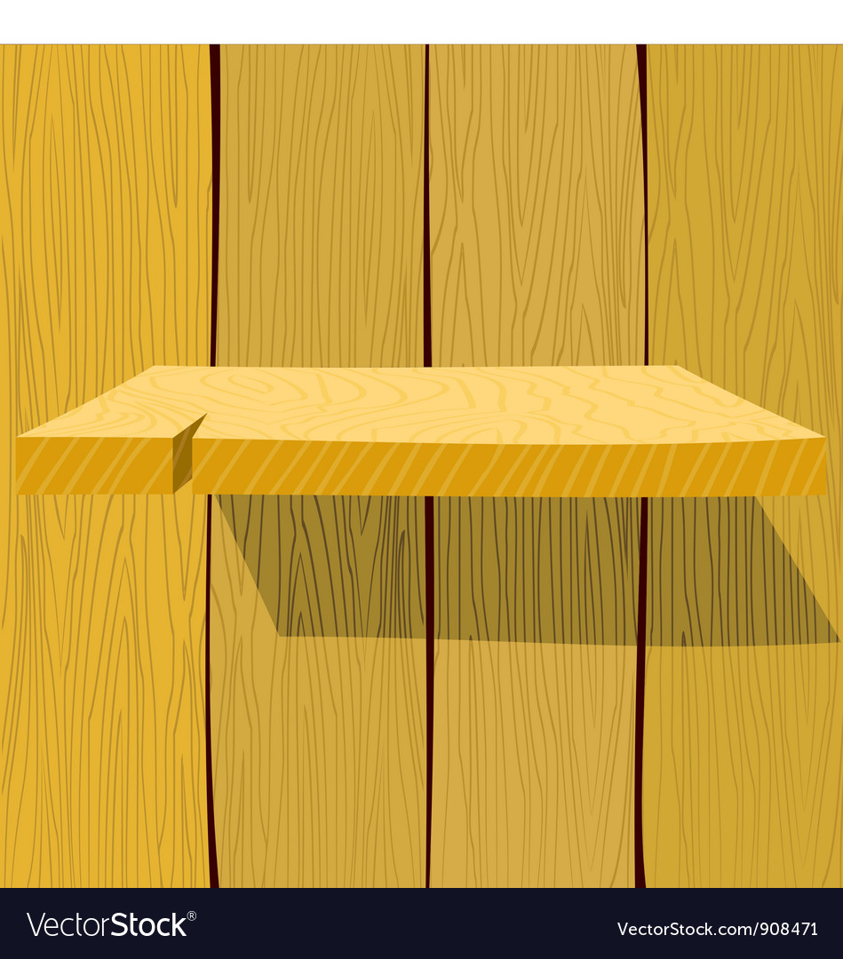 Wooden shelf eps10 vector | Price: 1 Credit (USD $1)