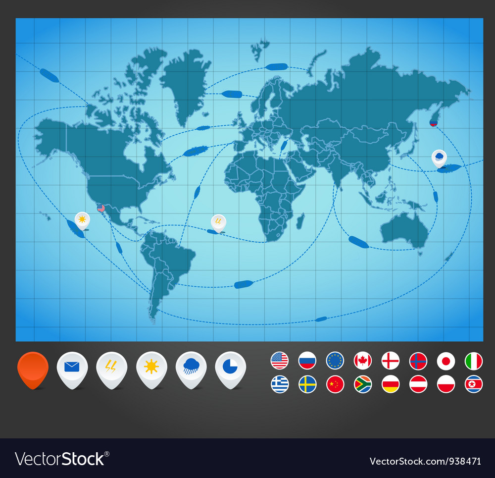 World map charts vector | Price: 1 Credit (USD $1)