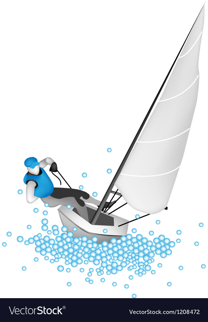 A small sail boat blasting through a wave vector | Price: 1 Credit (USD $1)