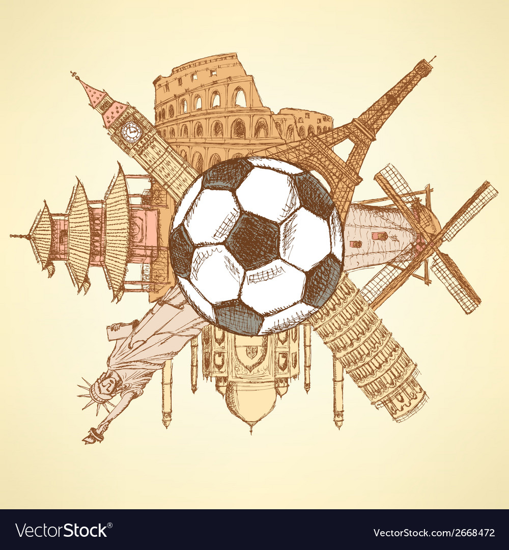 Ball buildings vector | Price: 1 Credit (USD $1)