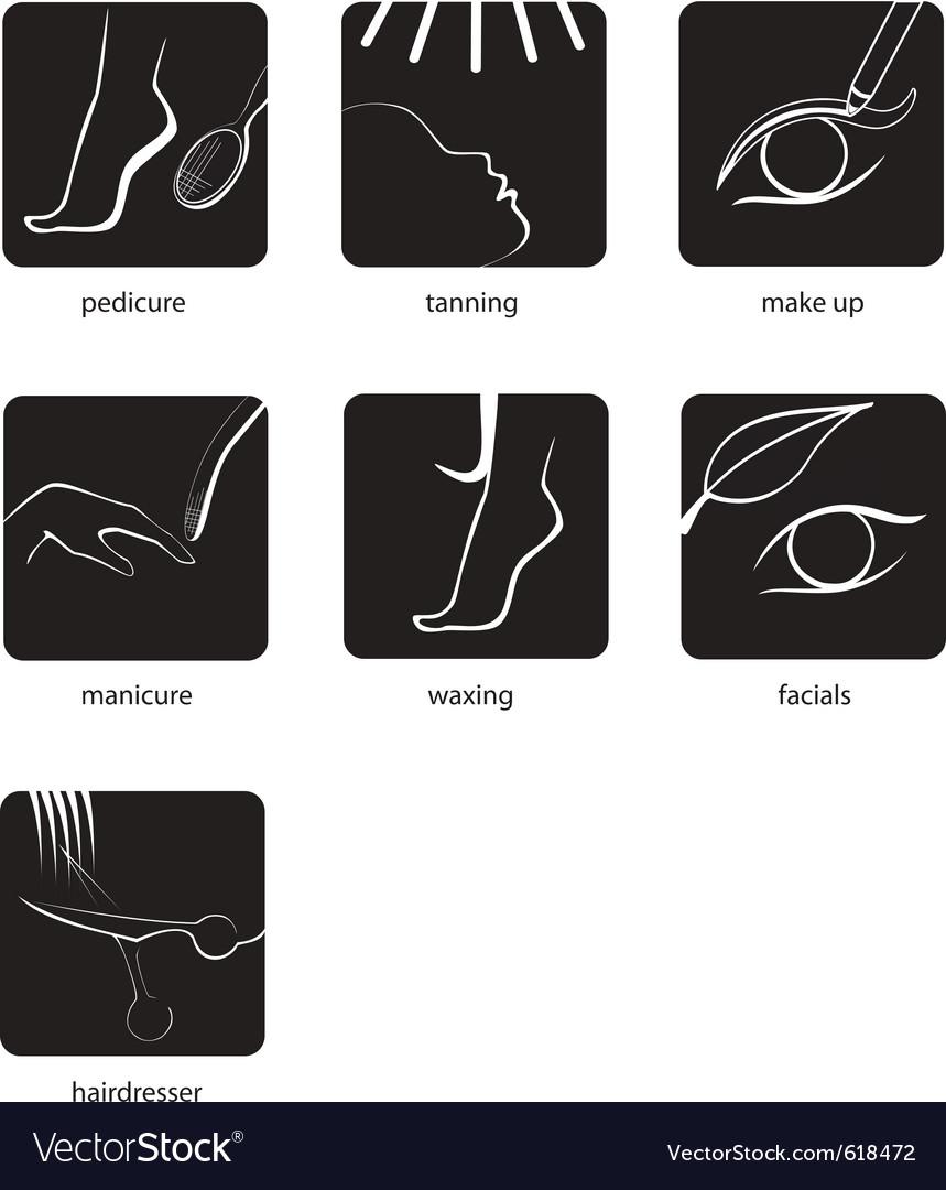 Beauty salon pictogram vector | Price: 1 Credit (USD $1)
