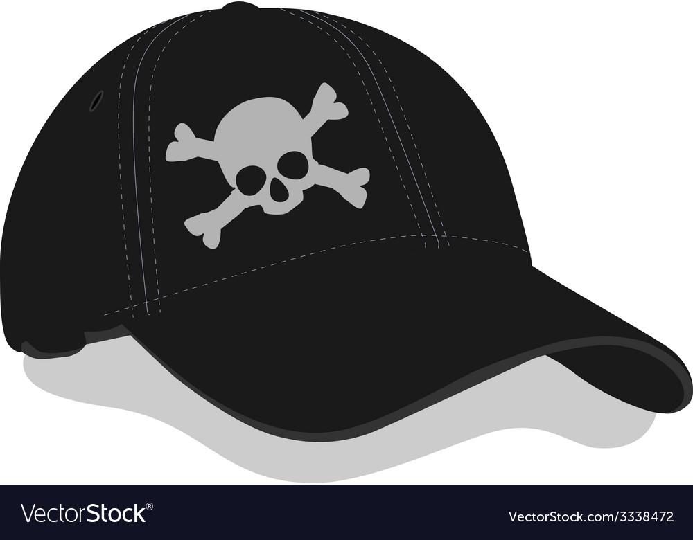 Black baseball cap vector | Price: 1 Credit (USD $1)