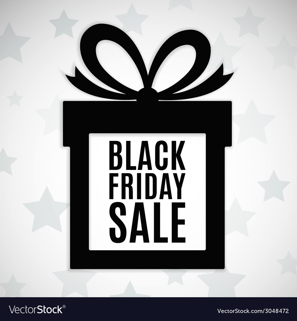 Black friday sale background vector | Price: 1 Credit (USD $1)