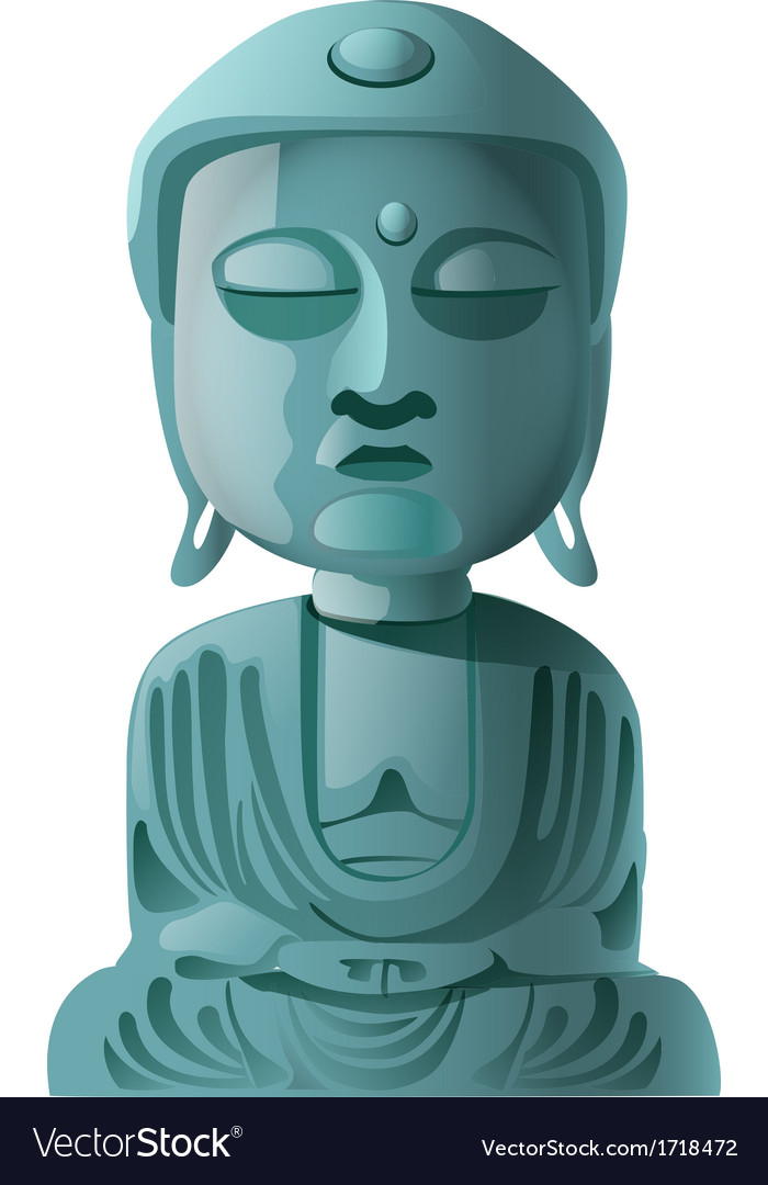 Buddha statue vector | Price: 1 Credit (USD $1)