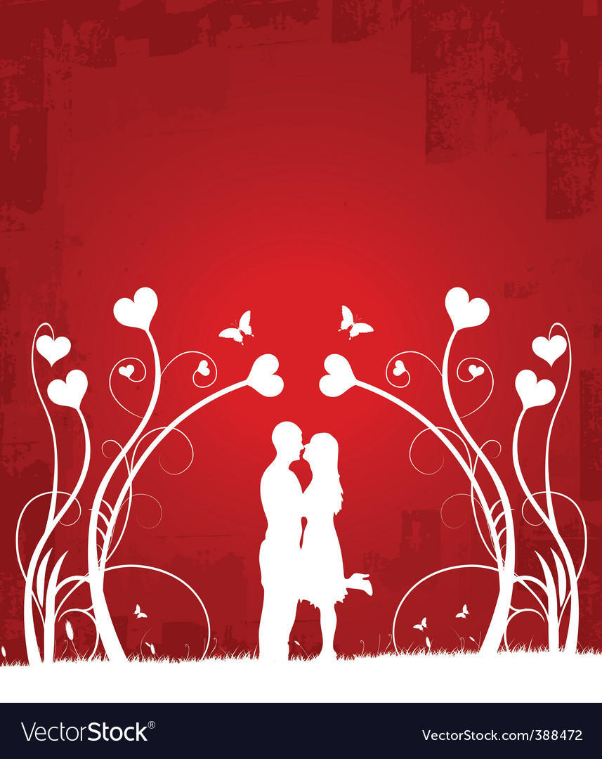 Couple kissing | red 1 vector | Price: 1 Credit (USD $1)