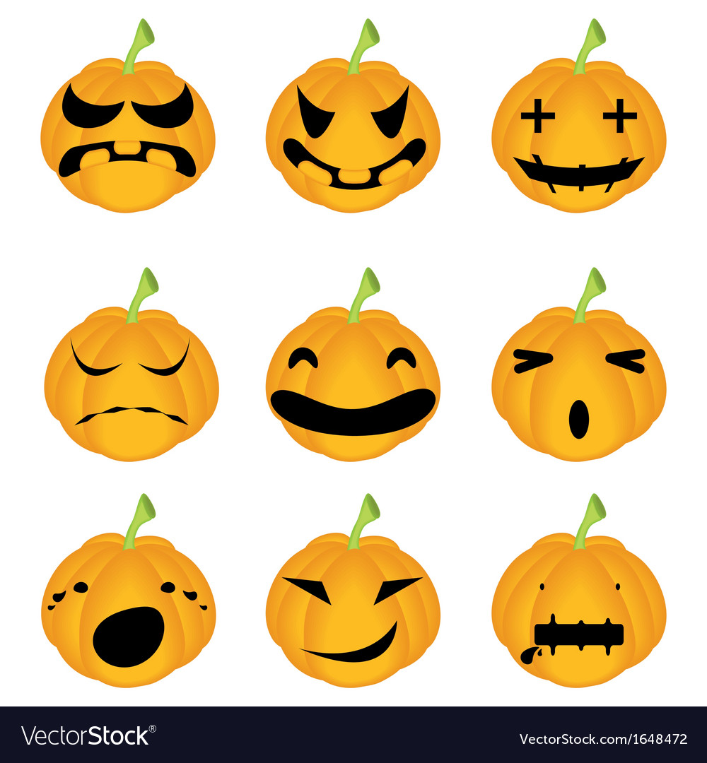 Halloween pumpkin set vector | Price: 1 Credit (USD $1)