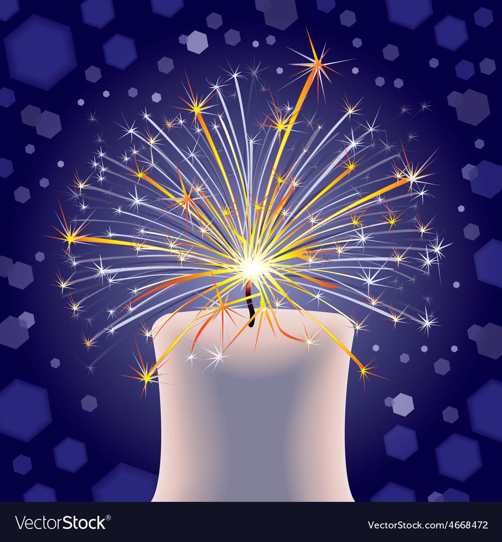 Happy sparkles vector | Price: 1 Credit (USD $1)