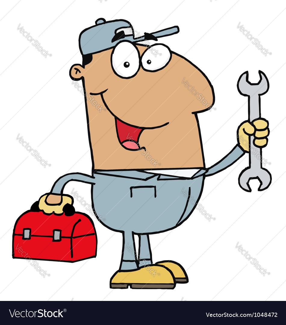 Hispanic mechanic guy vector | Price: 1 Credit (USD $1)
