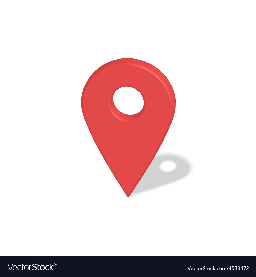 Location red pointer vector | Price: 1 Credit (USD $1)