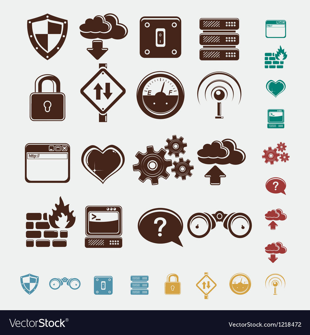 Set of network icons vector | Price: 1 Credit (USD $1)