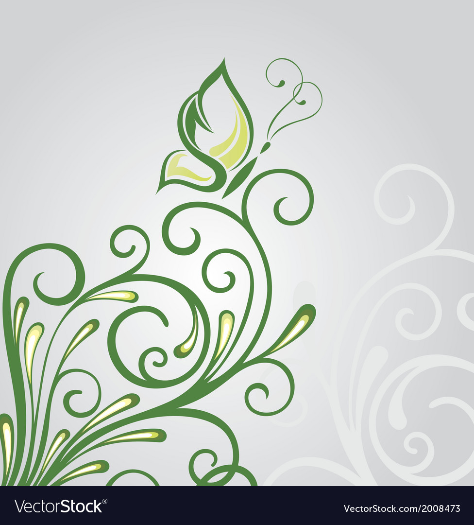 Abstract floral background with background vector | Price: 1 Credit (USD $1)