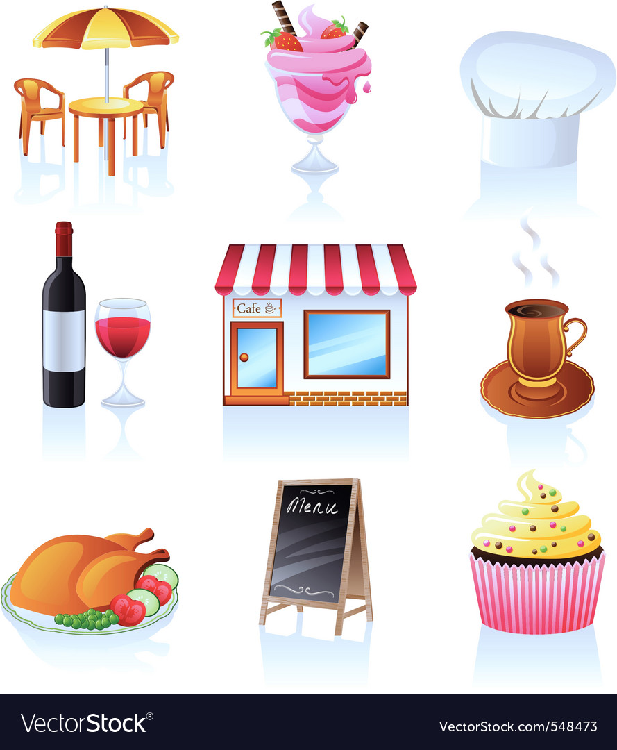 Cafe icons vector | Price: 3 Credit (USD $3)