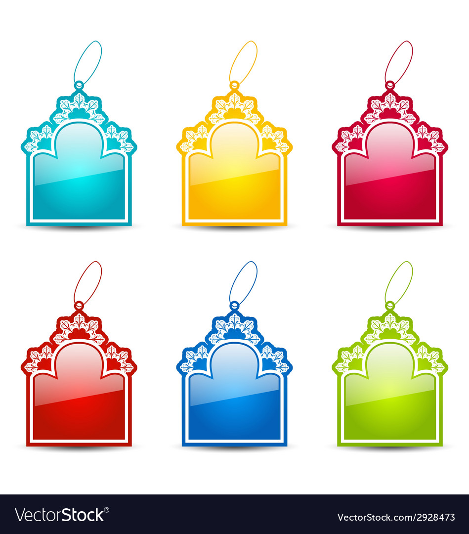 Christmas collection tags isolated on white vector   Price: 1 Credit (USD $1)