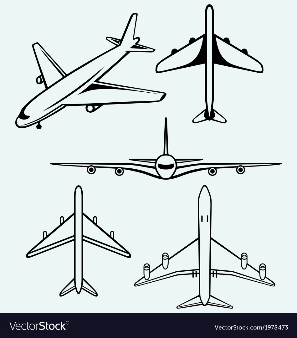 Collection of different airplane vector | Price: 1 Credit (USD $1)