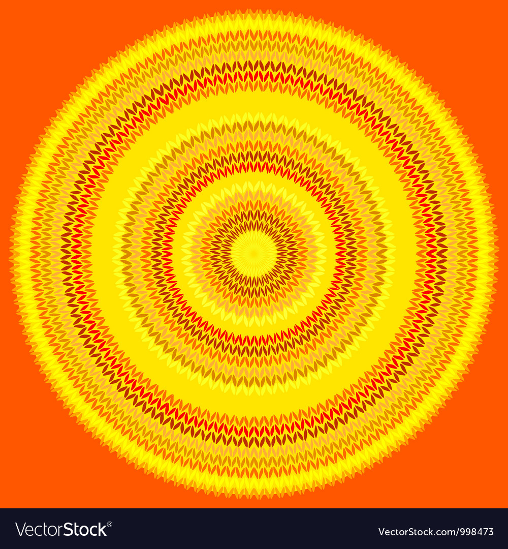 Knit sun vector | Price: 1 Credit (USD $1)