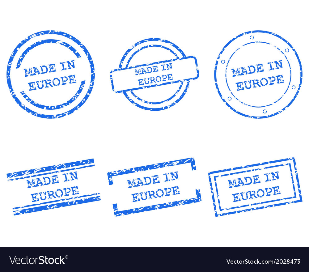 Made in europe stamps vector | Price: 1 Credit (USD $1)