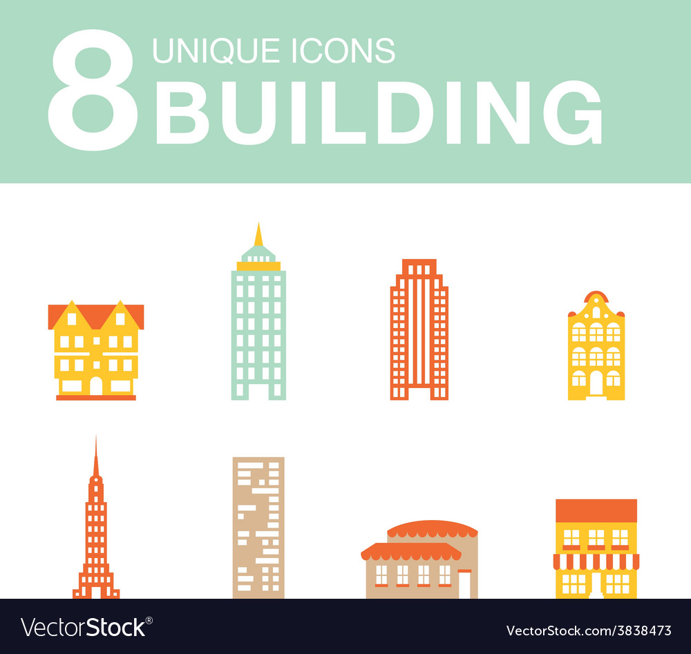 Set of icons of houses vector | Price: 1 Credit (USD $1)