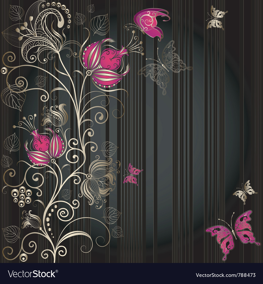 Vintage dark striped easter elegance frame vector | Price: 1 Credit (USD $1)