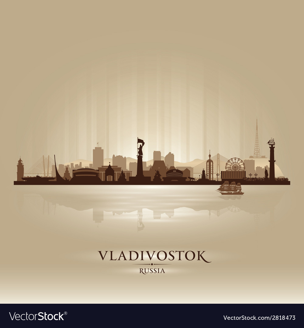 Vladivostok russia skyline city silhouette vector | Price: 1 Credit (USD $1)
