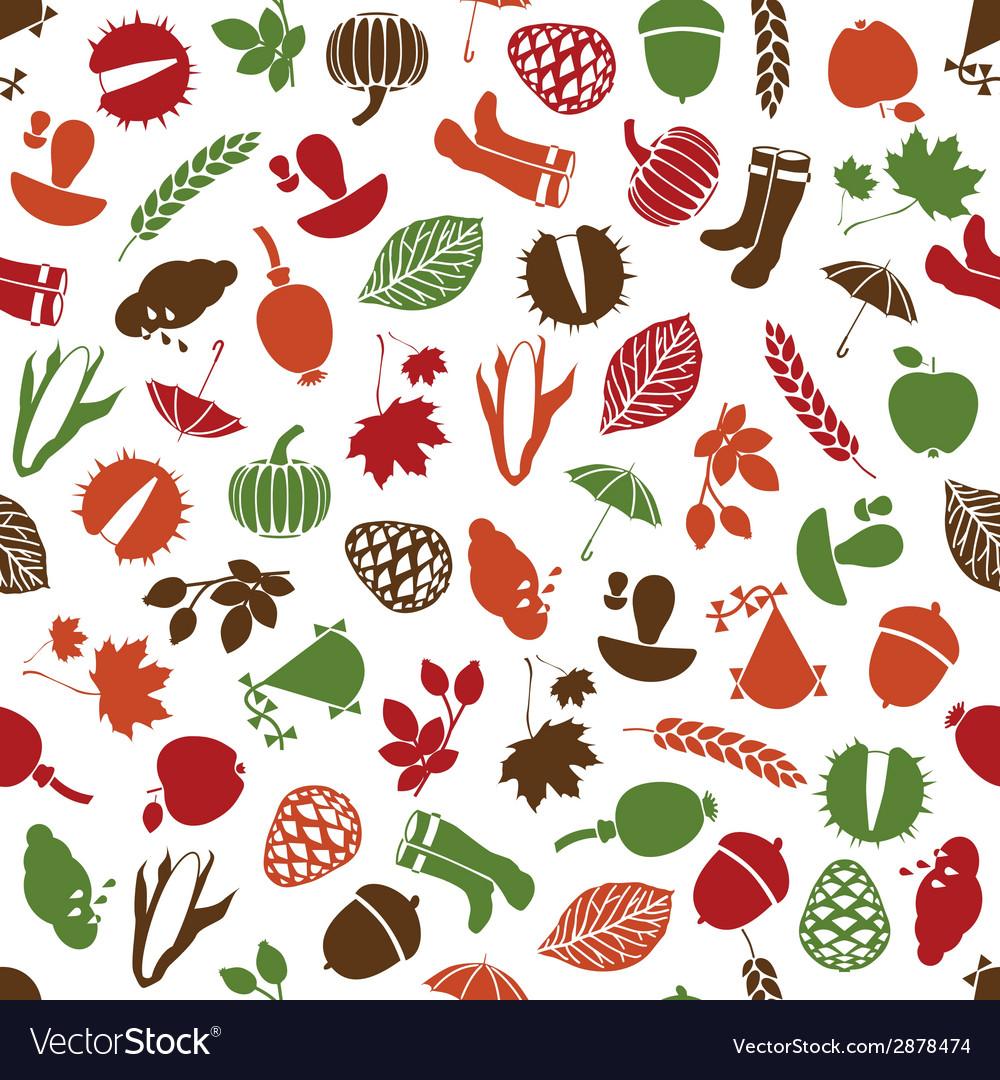 Autumn seamless pattern vector   Price: 1 Credit (USD $1)