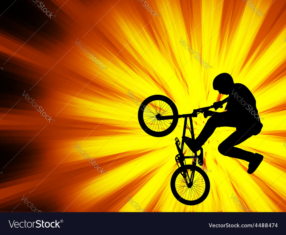 Bmx bicyclist - abstract background vector | Price: 1 Credit (USD $1)