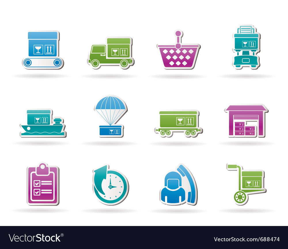 Cargo and shipping icons vector | Price: 1 Credit (USD $1)