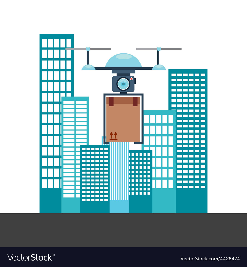 Drone technology vector | Price: 1 Credit (USD $1)