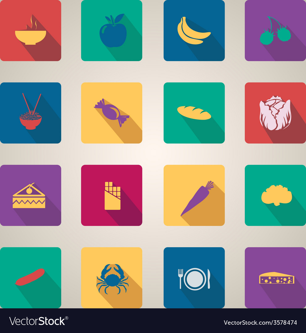 Flat web icons set 12 vector | Price: 1 Credit (USD $1)